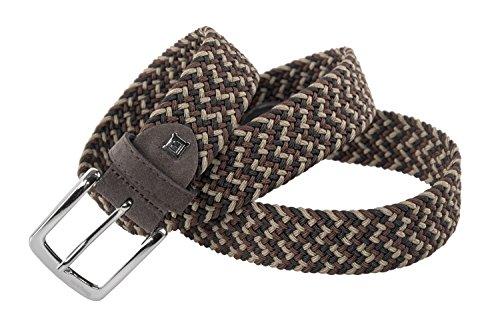Cintura uomo BIAGIOTTI marrone taupe MADE IN ITALY corda elastica 107 cm R6076