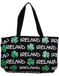 IRISH CLOVERLEAF HEART TASCHE STOFFTASCHE Cloverleaf Irland Ireland Kleeblatt