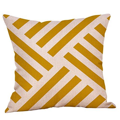 Moginp Kissenhülle,Senf Kissenbezug Gelb Bettkissenbezug Herbst Kissen Decken Dekorativen Geometrischen (h) - Herbst Dekorative Kissen