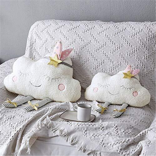 YOUHA 1 stück 40 * 26 cm Kreative Wolke Geformt Plüsch Kissen Bett Kissen Spielzeug Home Sofa Auto Decor