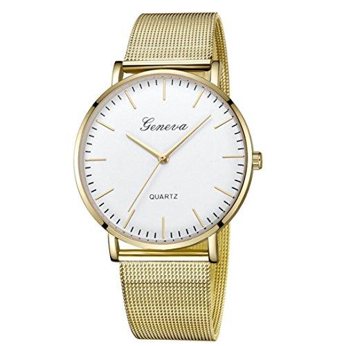 Damen Uhren,Pottoa Genf Damen Klassische Quarzuhr | Edelstahl Armbanduhr Armband Uhren |Damen Uhren Billig | Armbanduhr Damen Uhr Edelstahl Armband (D)