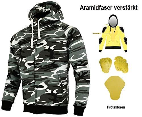HEYBERRY Aramid Hoody Motorradjacke Hoodie Roller Jacke Camouflage Gr. 3XL