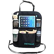 """Kid Transit Organizer da auto per bambini, applicabile sul sedile posteriore, con porta tablet. Tasca trasparente perfetta per iPad da 9.7"""" e Tablet vari. Utilizzabile come coprisedile - Porta Posteriore"""