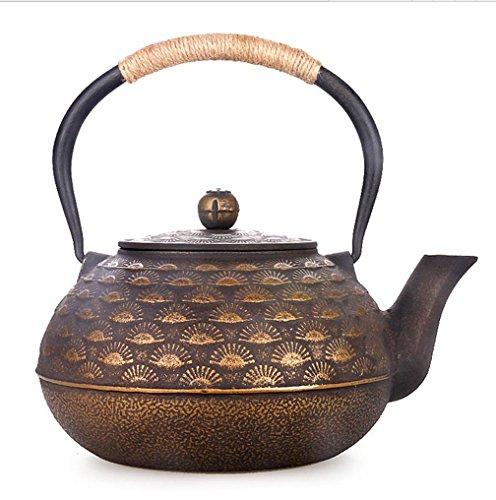 Giappone Cast Iron Pot aghi di pino mano di stile senza rivestimento con il filtro oro Cook acqua del tè 1.8L