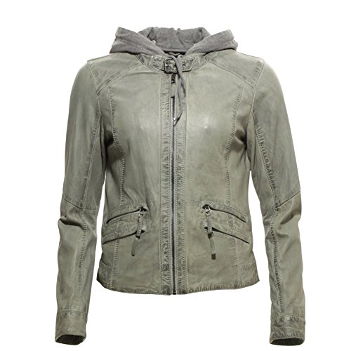 OAKWOOD Sunday New Lederjacke M hellgrau