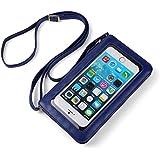 Vangoddy Handbag Blue With Touch Screen Pocket / Zipper Closure / Adjustable Shoulder Strap And Soft Interior Fabrics For Cat S31 / S41 / S63 (MB_CELLEA222_Cat)
