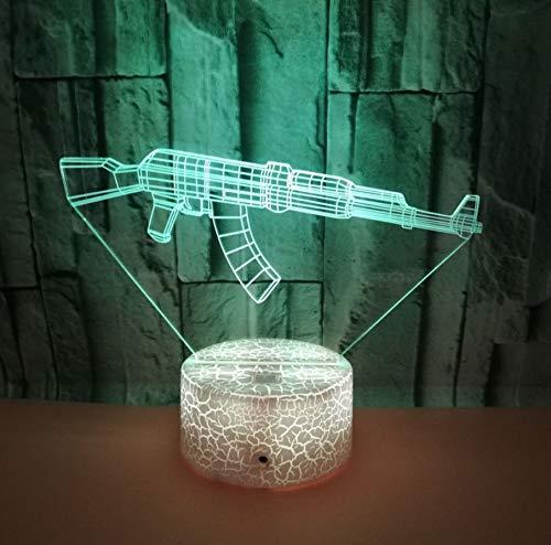 koration Handwerk Cool Baby Nachtlicht Helle Basis Touch Sensor Usb 3D Nacht Lampe ()