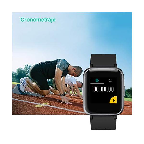 YAMAY Smartwatch, Impermeable Reloj Inteligente con Cronómetro, Pulsera Actividad Inteligente para Deporte, Reloj de… 4