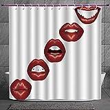 Best Fun World Lipsticks - Fun Shower Curtain 2.0 [ Kiss,Vivid Full Red Review