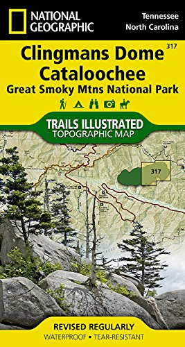 Clingman's Dome/Cataloochee, Great Smoky Mountains National Park : Trails Illustrated National Parks (National Geographic Maps: Trails Illustrated)