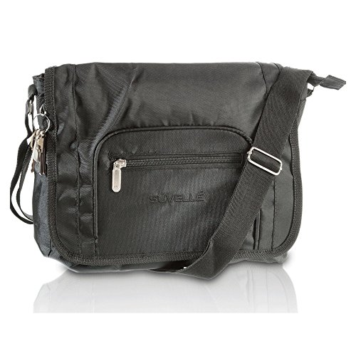 SUVELLÉ Lightweight Flapper Travel Everyday Crossbody Bag Multi Pocket Shoulder Handbag 9902