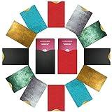 FreeHaveFun RFID Schutzhüllen NFC Blocker (14 Stück) 100% RFID Schutz vor Auslesen | 12 RIFD Hüllen für Kreditkarten Personalausweis + 2 x Reisepass NFC Blocking Schutzhülle