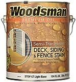 Woodsman® Premium Semi-Transparent Oil Deck, Siding & Fence Stain, Exterior for Wood Decks
