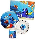 alles-meine.de GmbH 4 tlg. Geschirrset -  Disney - Findet Nemo / Fisch Dory  - Porzellan - Trink..
