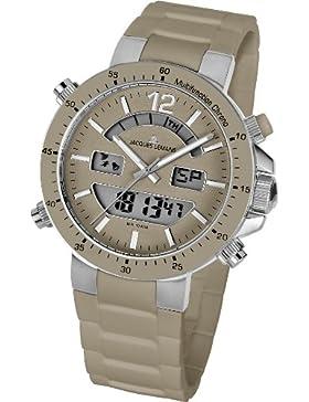 Jacques Lemans Unisex-Armbanduhr Milano Analog - Digital Silikon 1-1712V