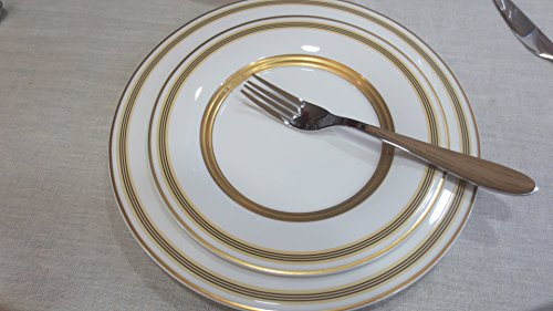 Gold-service Plate (VILLEROY BOCH VIVIAN GOLD TABLE SERVICE 18PCS ( 6 DINNER PLATES 27cm- 6 DEEP PLATES 25cm- 6 DESSERT PLATES 21CM)ss)