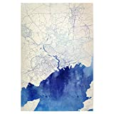 artboxONE Poster 90x60 cm Städte Brest Frankreich Blue