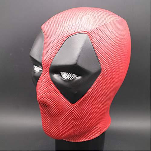 Einfach Kostüm Wirklich Superheld - KYOKIM Deadpool Maske Kind Erwachsener Halloween Mottoparty PVC Helm Cosplay Karneva Herren Held Vollen Kopf Deluxe Replik