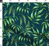 Farn, Tropisch, Dschungel, Blätter, Palme, Wasserfarben