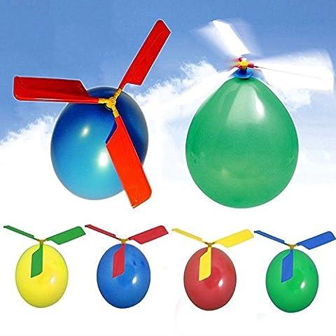 German Trendseller® - balloon helicopter l ballon hélicoptère l hélice l jouet volant l vole dans le ciel l la sensation sur chaque fête de l'anniversaire