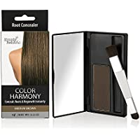 Color Harmony Root Touch Up Powder Conceals Grey Roots – Water Resistant, Non-Sticky, Simple To Apply And Mess Free (marrón medio)