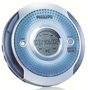 Philips EXP2565/02 Portable CD player Blu, Argento lettore e registratore CD