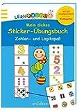 Lernraupe - Mein dickes Sticker-Übungsbuch Zahlen- und Logikspaß (Kindergarten-Lernraupe)