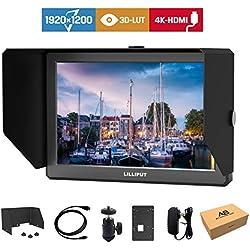 Lilliput A8 3D-LUT 8.9 pouce 1920x1200 Caméra Field Moniteur de Diffusion avec Sortie HDMI 4K Caméscope DSLR A7 A7R A7S III A9 Panasonic GH5 GH5s
