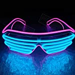 Amyove LED Double-color Luminous Glasses for Christmas Activities Wedding Birthday Party Decoration Light UP Shades Type Glasses