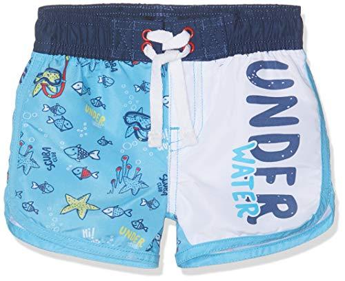 Chicco Baby-Jungen Costume Da Bagno Boxer Boxershorts, Türkis (Azzurro Chiaro 021), 74 (Herstellergröße: 074)
