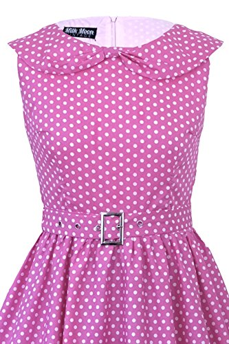 Milk Moon Vintage Damen Skater Kleid Rosa - Pink