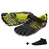 Vibram FiveFingers V-Train Men, Size:43;Color:Black/Green