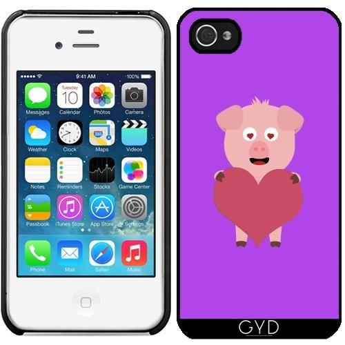Leder Flip Case Tasche Hülle für Apple iPhone 6 Plus / 6S Plus - Schwein Mit Großem Herzen Für by ilovecotton Starre Kunststoff