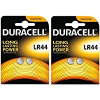 Duracell Specialty Type LR44 Alkaline Coin Batteries, pack of 4