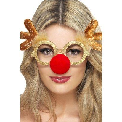 Rentier Comedy Brillen–Erwachsene Weihnachten–One (Minnie Maus Nase)
