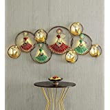 ACCURATE ART Abstract Metal Wall led Muscian Circle Doll Wall Art Decor, Large, Multicolor