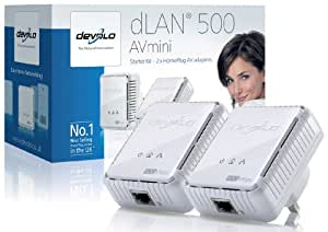 Devolo dLAN 500 AVmini (IEEE 1901/ HPlug AV) Starter Kit - (2x plugs)