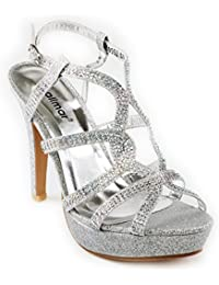 Amazon.es  Zapatos Plateados De Fiesta - 39.5   Zapatos para mujer ... 9d99e77f561e