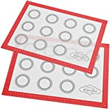 BakeitFun XX-Large Silicone Pastry Mat With Measurements - 85 x 57 cm - Full Sticks To Countertop For Rolling Dough - Conversion Information Included -Perfect Fondant Surface - Professional Size - Black