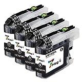 LC123 XL, 7Magic Druckerpatronen Ersatz für Brother LC123 XL Kompatible Tintenpatronen für Brother MFC-J4410DW MFC-J6920DW DCP-J4110DW MFC-J6720DW DCP-J552DW MFC-J6520DW MFC-J870DW DCP-J132W MFC-J4710DW MFC-J4510DW MFC-J4610DW MFC-J650DW Drucker(4 Schwarz)