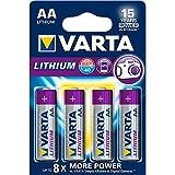 VARTA Lithium - Pilas Litio AA (pack 4 unidades)