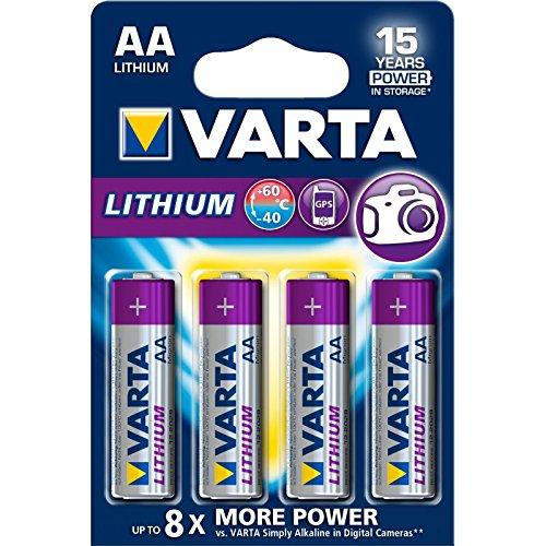 VARTA Lithium   Pilas Litio AA (pack 4 unidades)