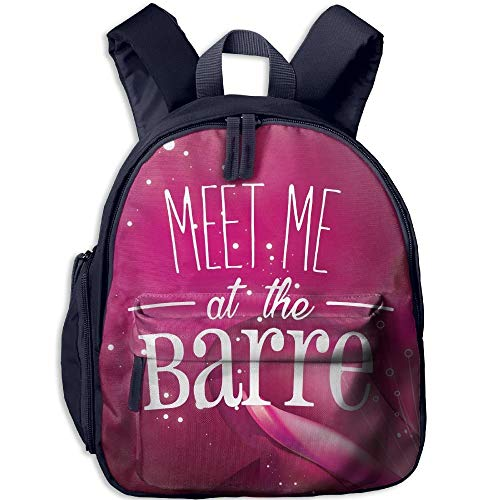 Meet Me at The Barre Kid's Mini Backpack Shoulder Schoolbag with Front Pockets