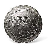 Game of Thrones Stark Wappen Schild Infanterie mit Schattenwolf Sammlerstück mit Wandhalterung Ø 60cm