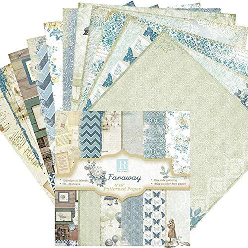 Papel estampado patrón 24 Hojas Paper Pack