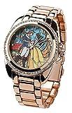 Die Schöne und das Biest Belle Armbanduhren goldfarben