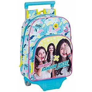 Safta Mochila Infantil Soy Luna «Faces» Oficial Con Carro Safta 125x95mm