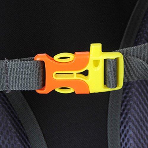 LQABW Arrampicata Escursioni A Cavallo Impermeabili Uomini Di Grande Capacità E Donne Doppio Zaino Esterno Accessori Borsa 40L,Red Orange