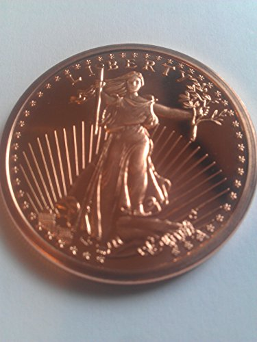 1 Ounce 2012 .999 Pure Copper Bullion Round St Gaudens Design by REEDERSONG -