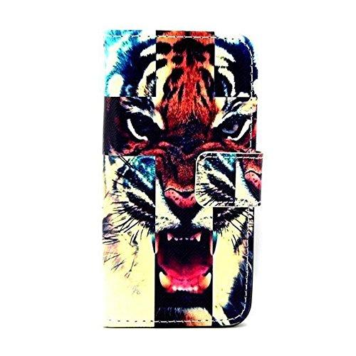 """Monkey Cases® iPhone 64,7""""- Flip Case-Tiger-Mat-Premium-Original-Neuf-Housse"""